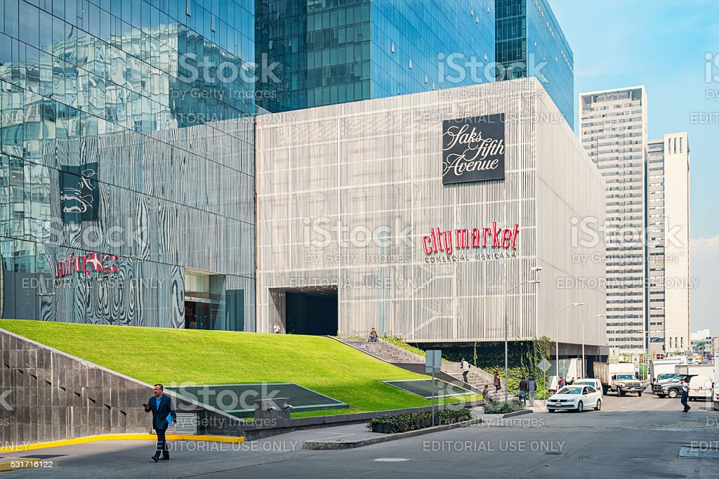 Shopping Mall in the Upscale Polanco Neighborhood of Mexico City stock photo