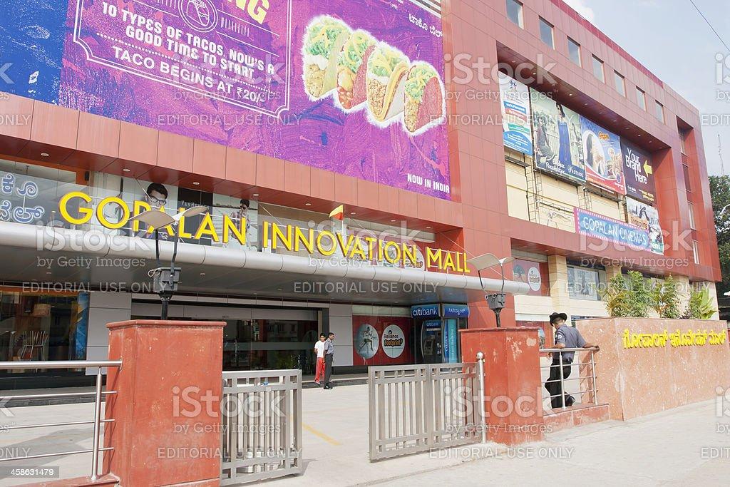 Shopping mall, India stock photo