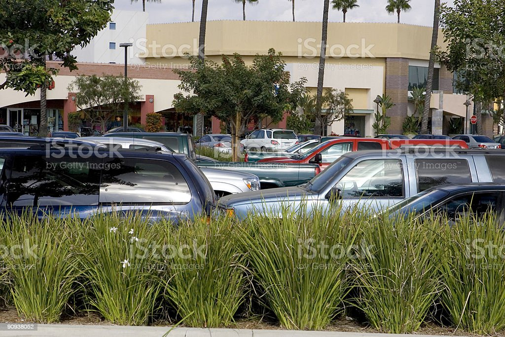 Shopping Mall Parking Lot royalty-free stock photo