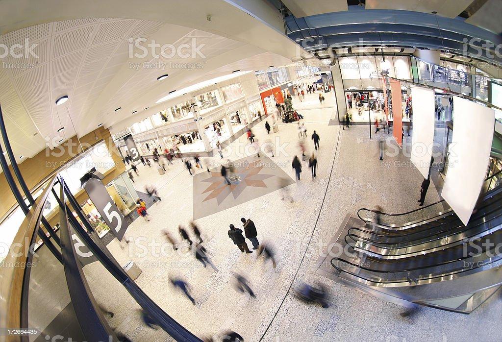 Shopping Mall (fisheye) royalty-free stock photo