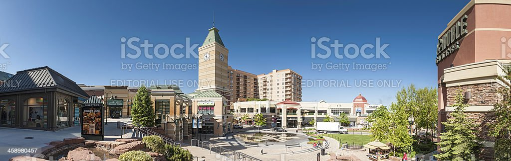 Shopping mall plaza panorama Salt Lake City Utah stock photo