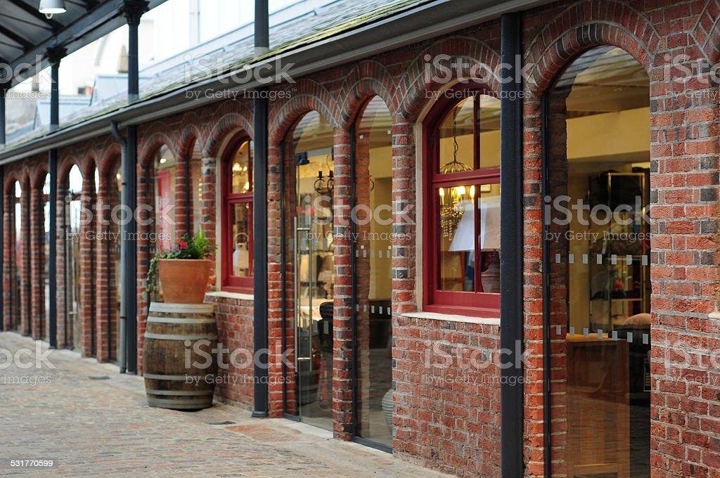 Shopping Mall, U.K. stock photo