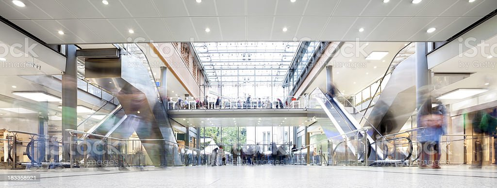 Shopping Mall with Crowd of Shoppers royalty-free stock photo