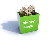 Shopping Money Bag Word Art