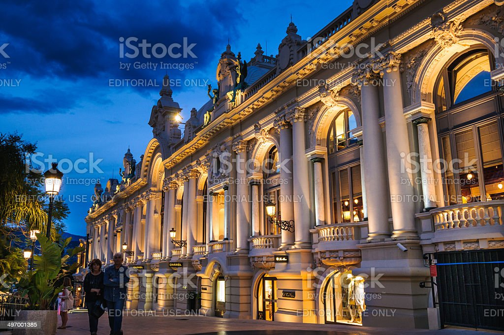 Shopping Monte Carlo stock photo