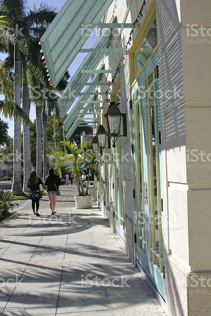 Shopping on 5th royalty-free stock photo
