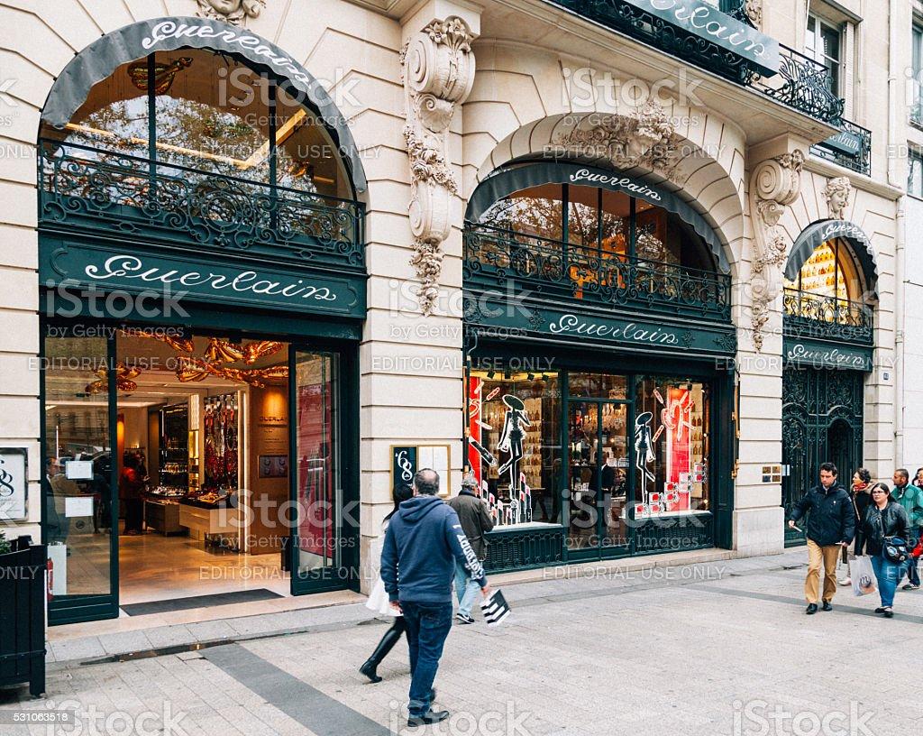 Shopping on Champs Élysées -Paris stock photo