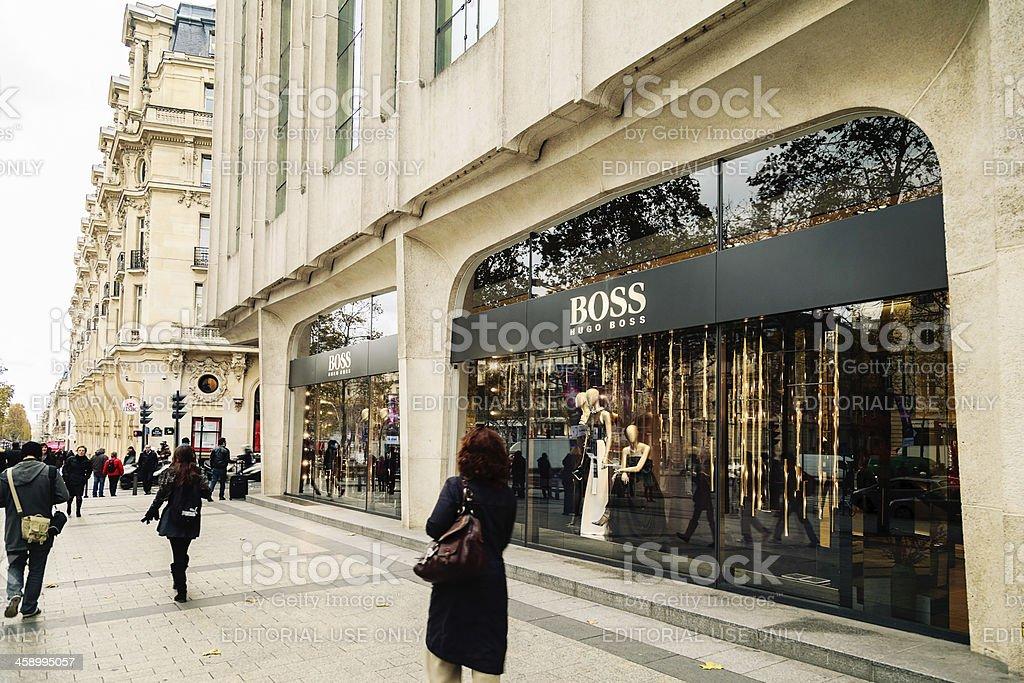 Shopping on Champs Élysées royalty-free stock photo