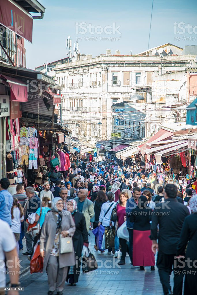 Shopping on Streets of Istanbul stock photo