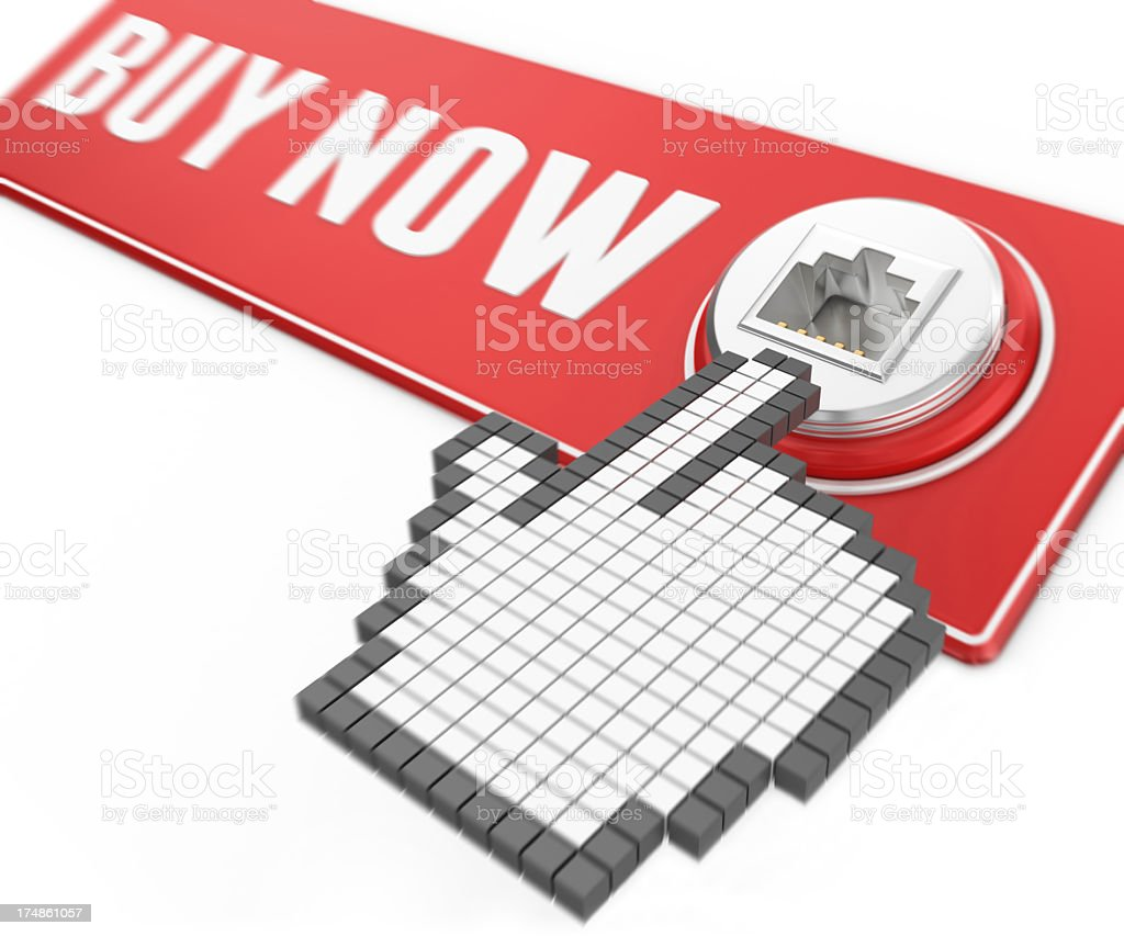 Shopping on the Internet royalty-free stock photo