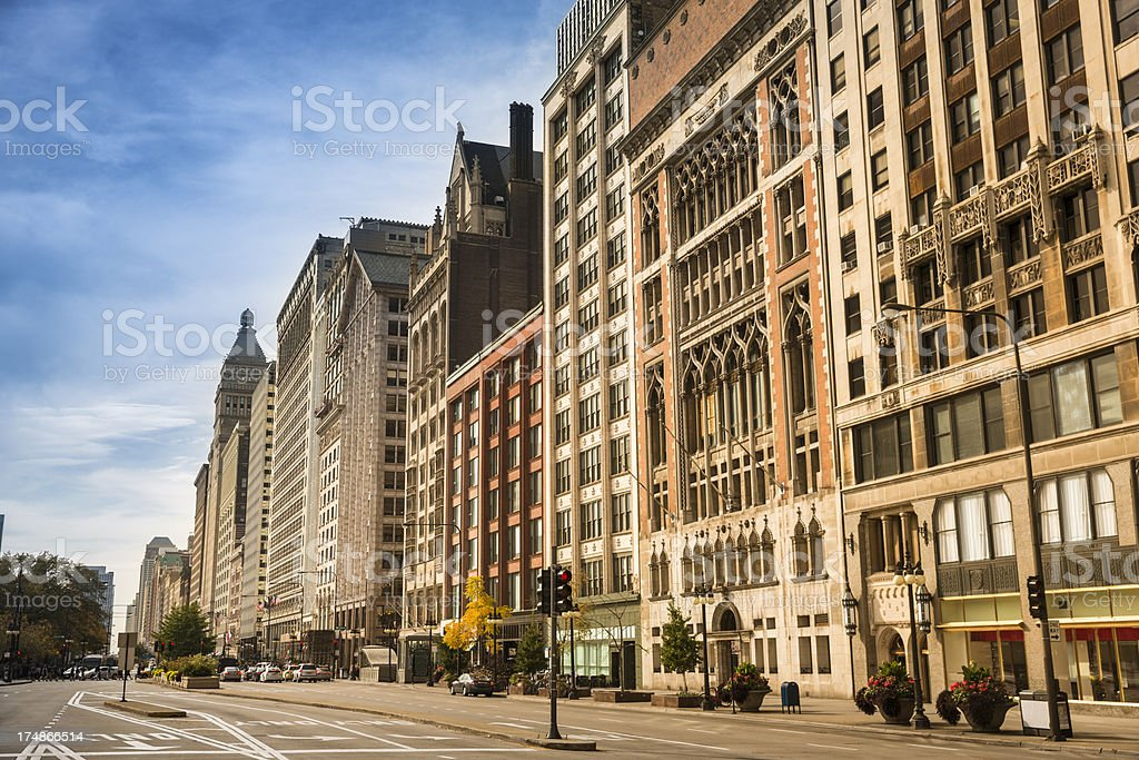 Shopping on the Magnificent Mile Chicago stock photo