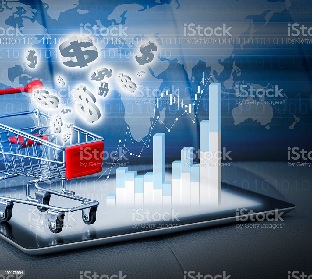Shopping online concepts stock photo