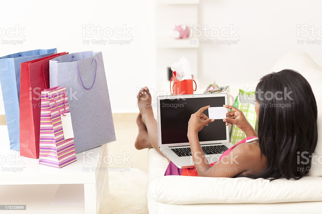 Shopping online. royalty-free stock photo