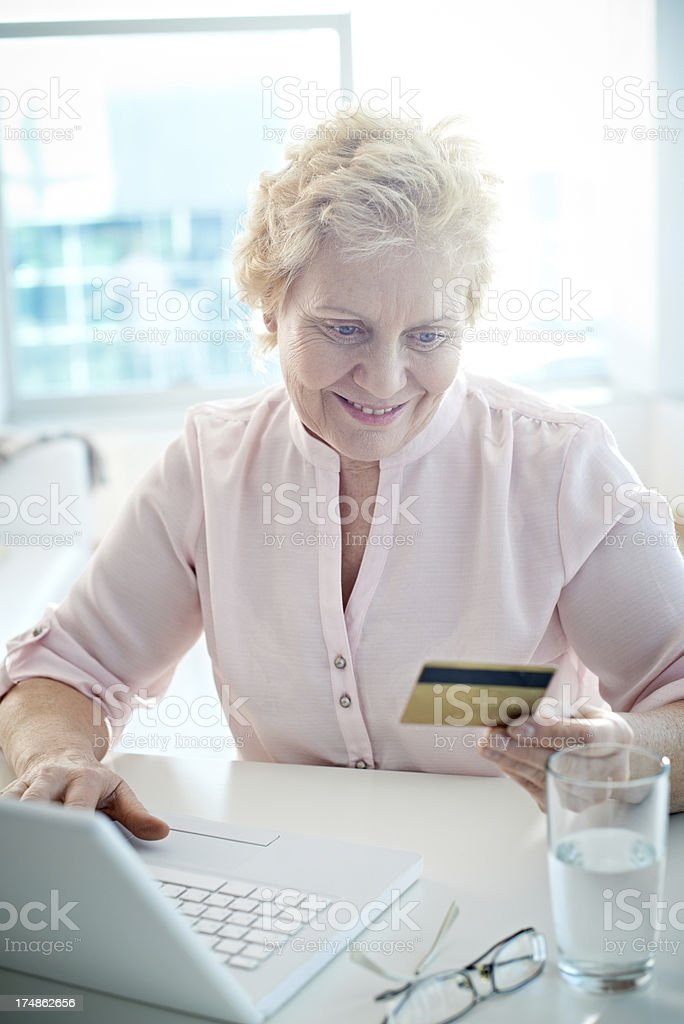 Shopping online royalty-free stock photo