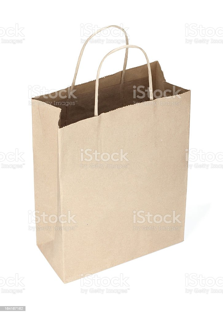 Shopping paper bag royalty-free stock photo