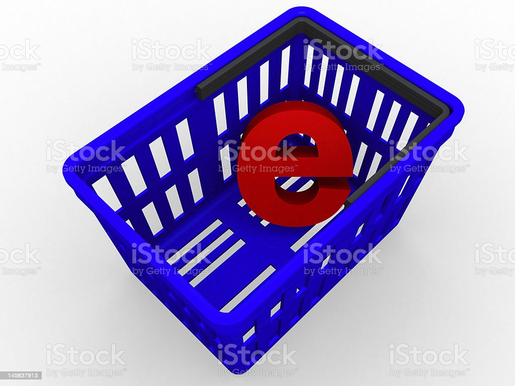 E - shopping royalty-free stock photo