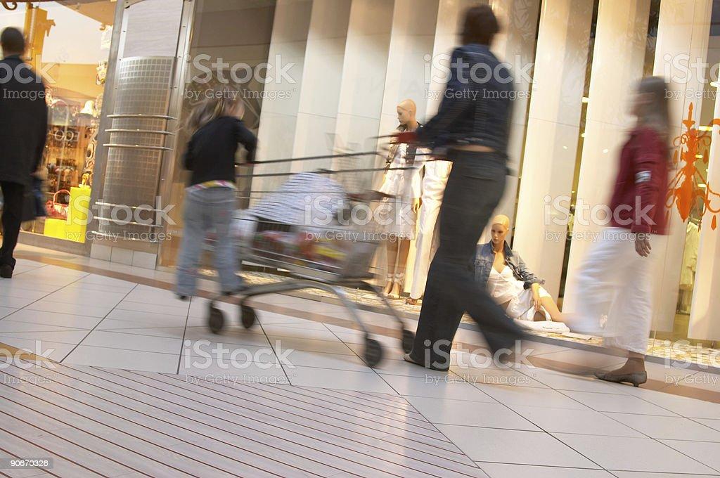Shopping (blur) royalty-free stock photo