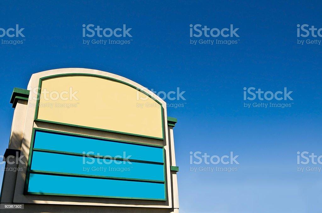 Shopping Plaza Sign stock photo