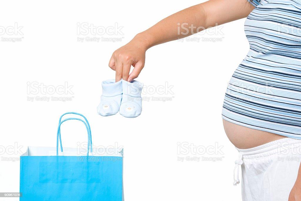 Shopping pregnant woman royalty-free stock photo