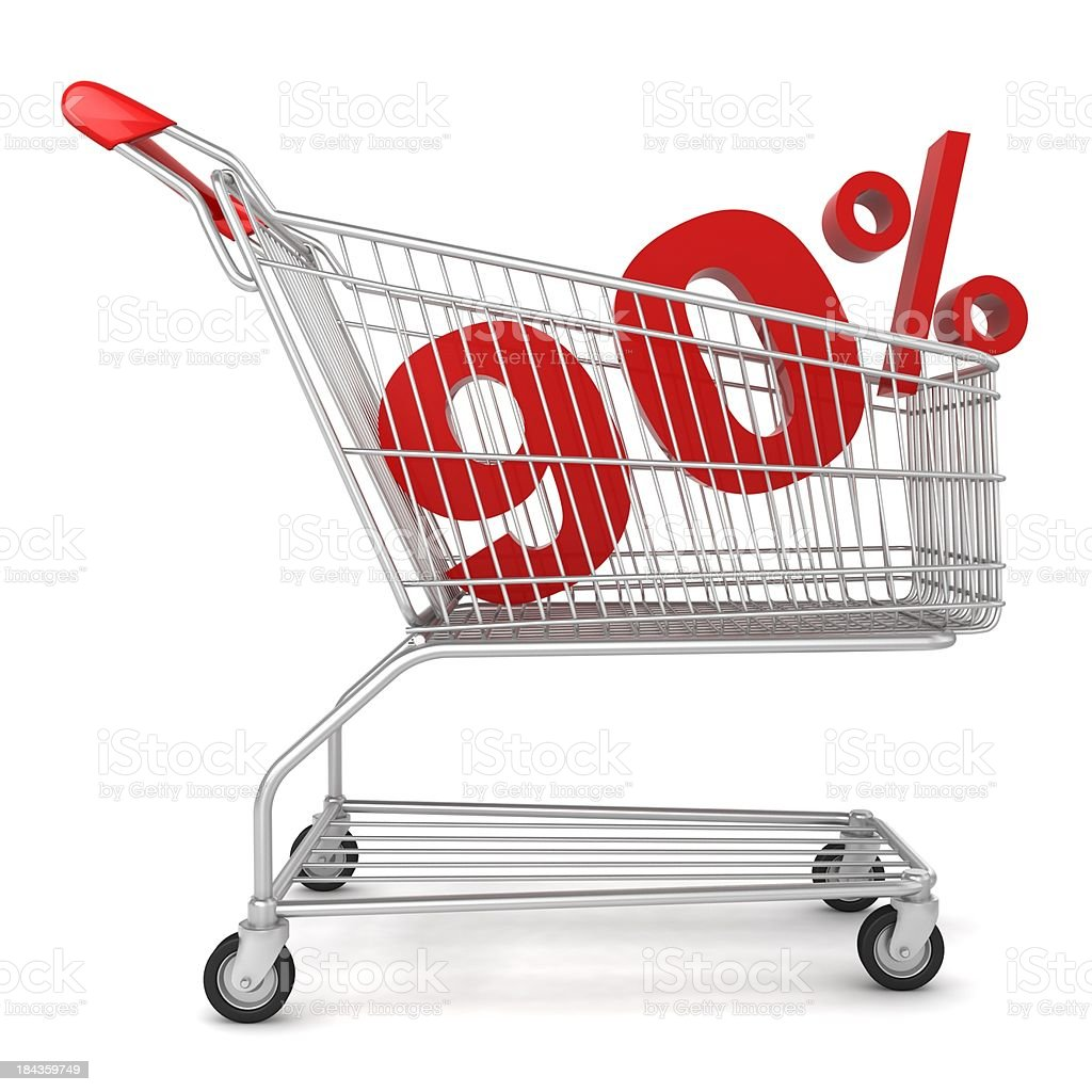 Shopping Sale - 90% Discount royalty-free stock photo
