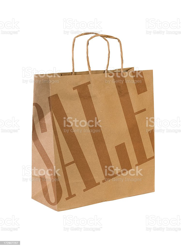 Shopping Sale Bag w/Clipping Path royalty-free stock photo