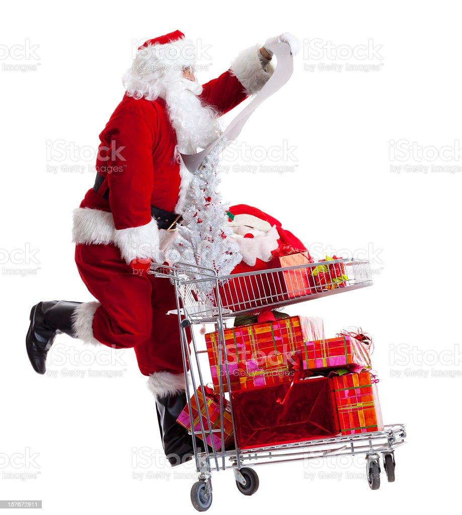 Shopping Santa Claus stock photo