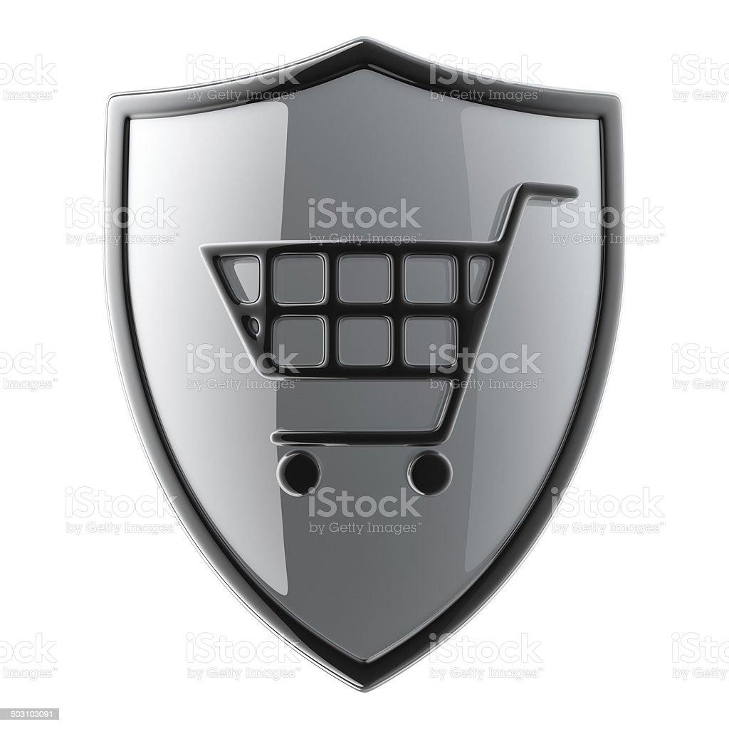 Shopping Shield royalty-free stock photo