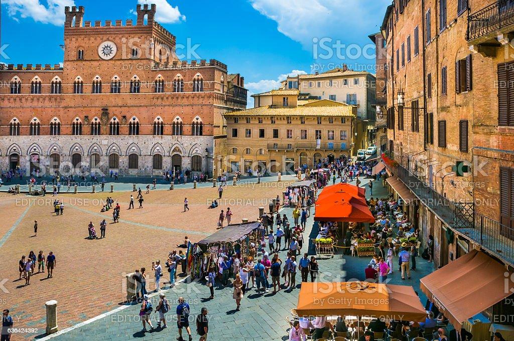 Shopping Siena stock photo