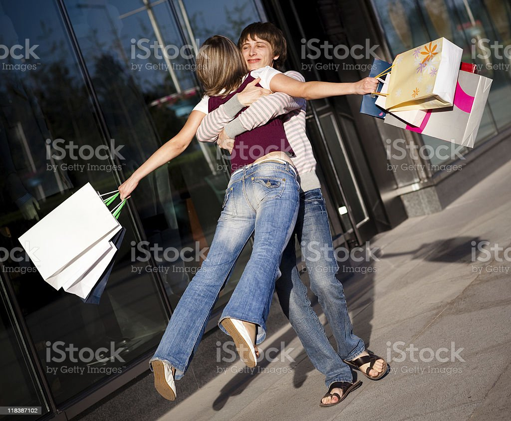 Shopping spin royalty-free stock photo