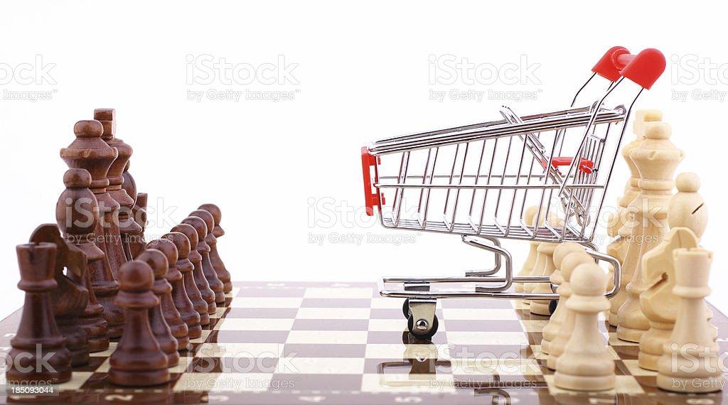 Shopping Strategies royalty-free stock photo