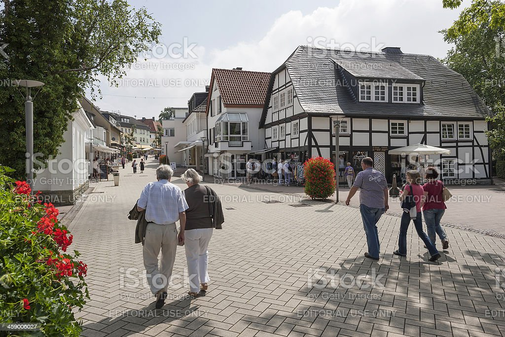 Shopping street Bad Sassendorf, Germany royalty-free stock photo