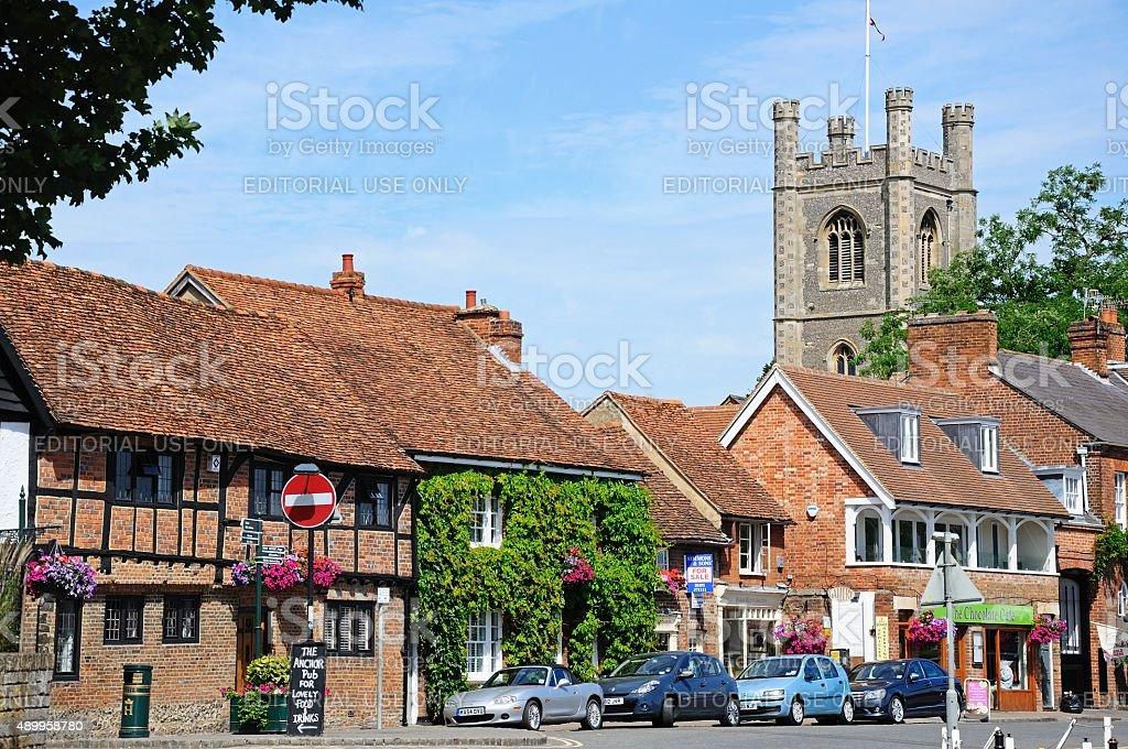 Shopping street, Henley-on-Thames. stock photo