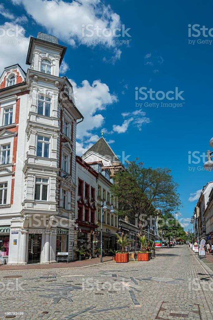 Shopping street in Gera, Germany royalty-free stock photo
