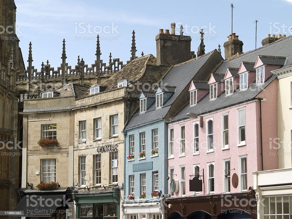 Shopping street in the centre of Cirencester, stock photo