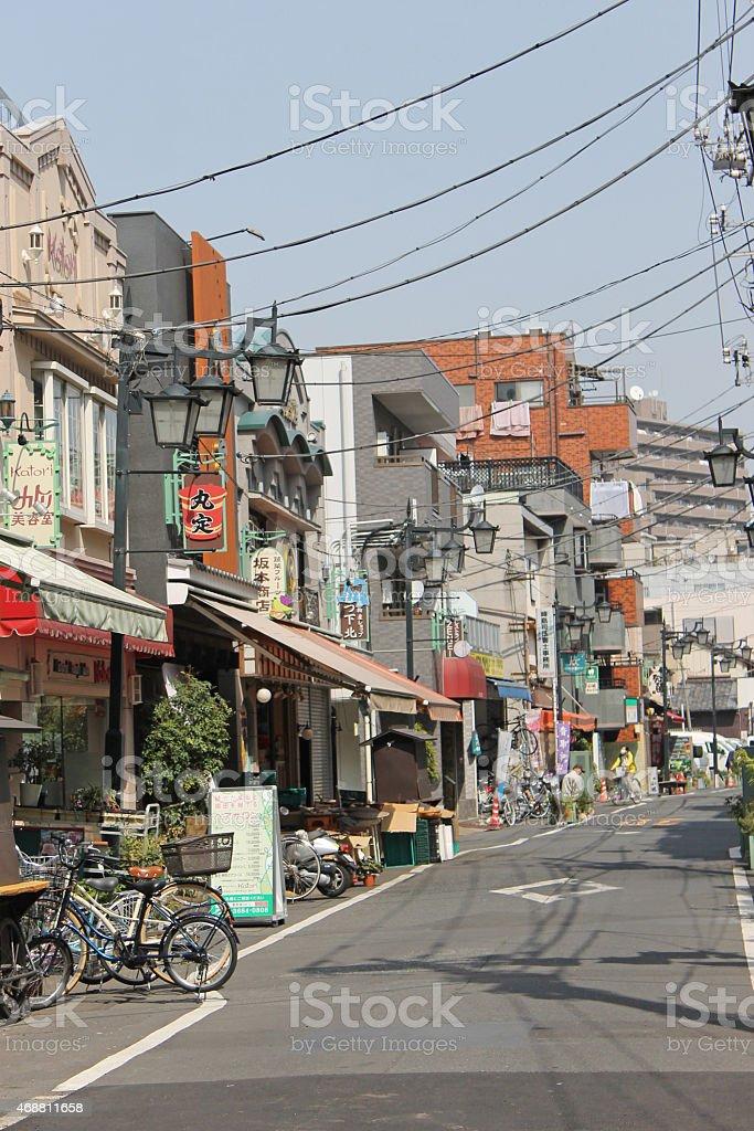 Shopping street stock photo