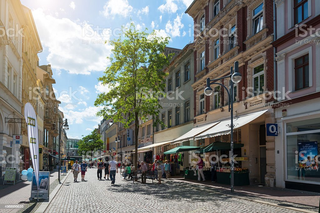 Shopping street Sorge in Gera, Germany royalty-free stock photo