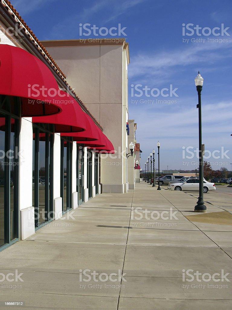 Shopping - Strip Mall royalty-free stock photo