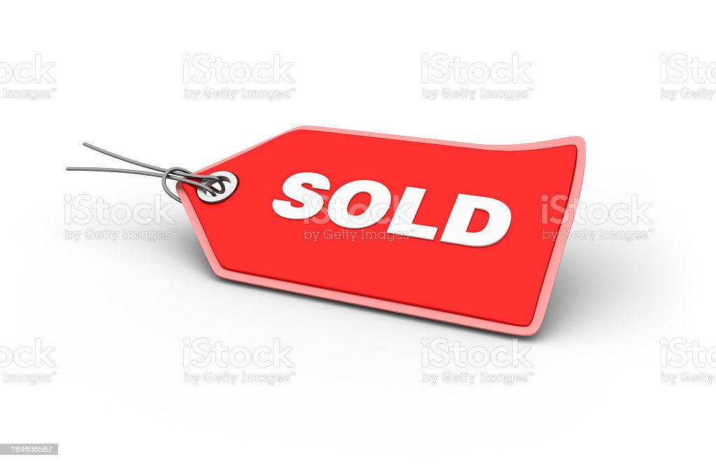 SOLD Shopping Tag royalty-free stock photo