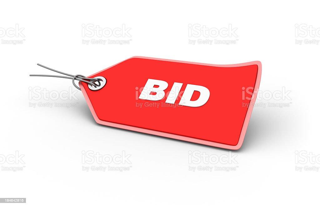 BID Shopping Tag royalty-free stock photo