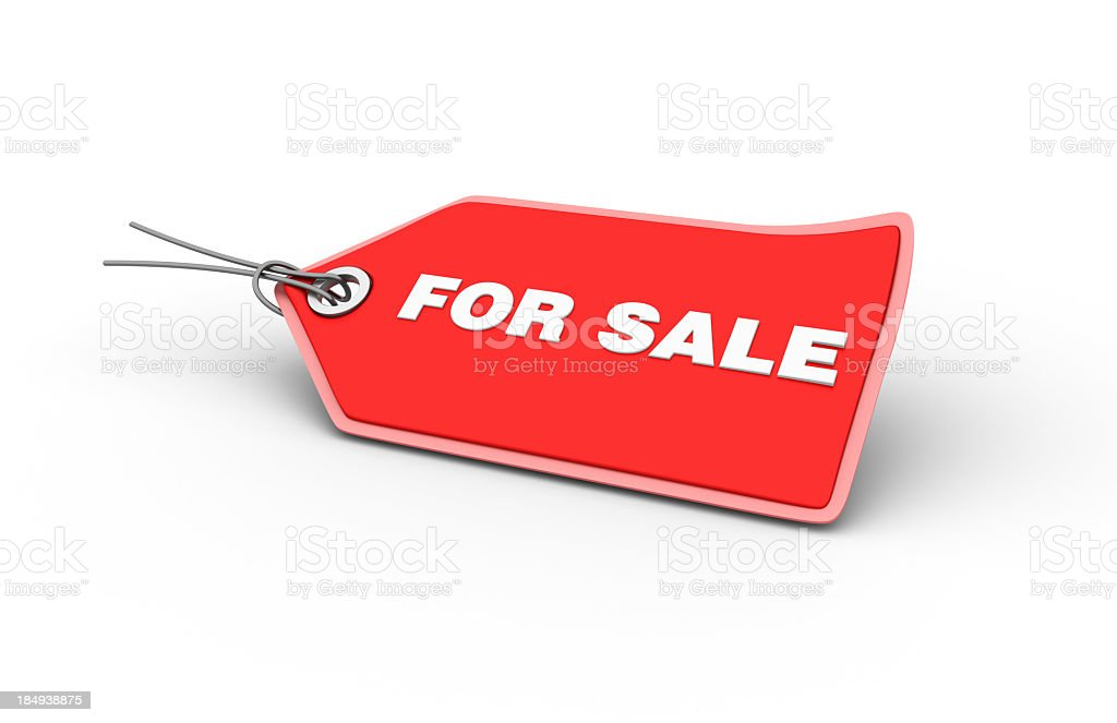 FOR SALE Shopping Tag stock photo