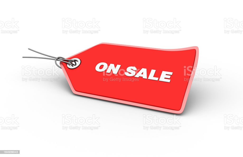 ON SALE Shopping Tag royalty-free stock photo