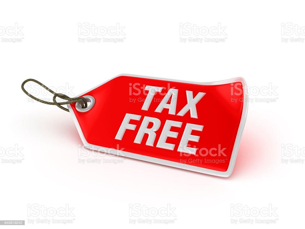 Shopping Tag Series -  TAX FREE stock photo