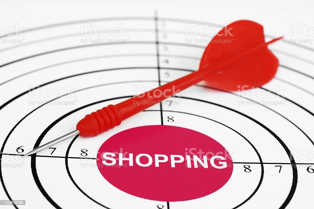 Shopping target royalty-free stock photo
