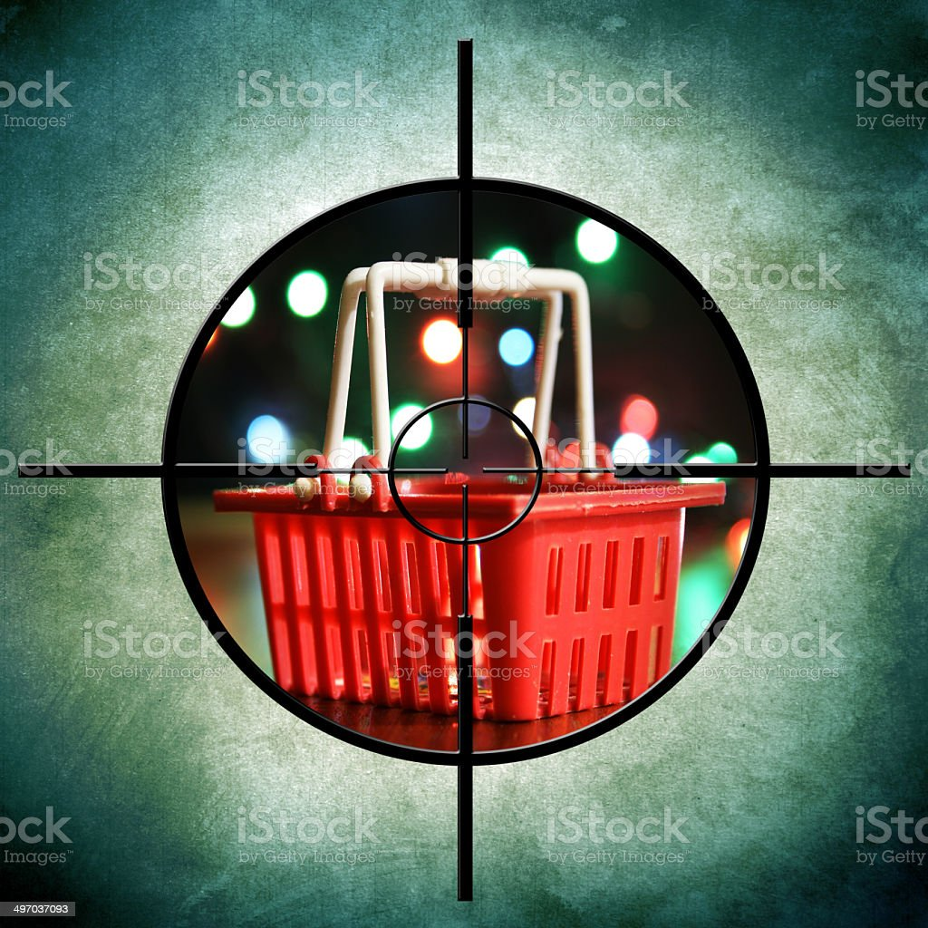 Shopping target royalty-free stock photo