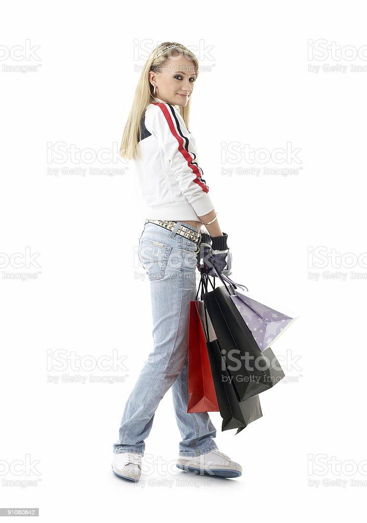 shopping teenage girl #3 royalty-free stock photo