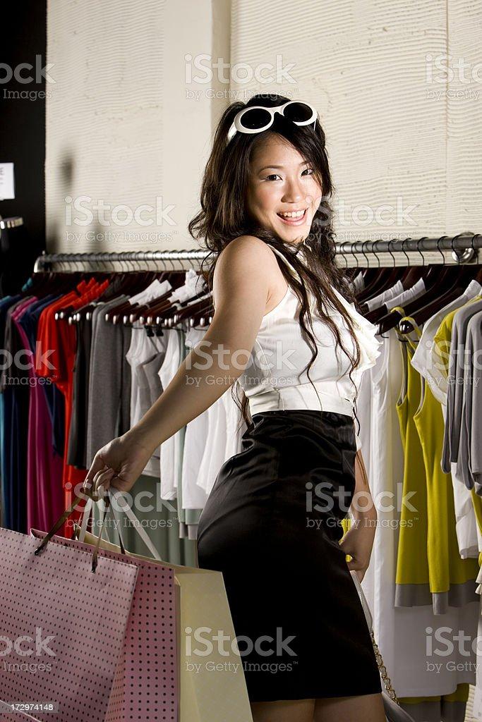 Shopping teenager royalty-free stock photo
