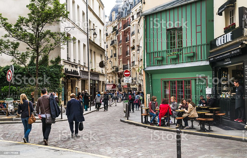 Shopping the Latin Quarter stock photo