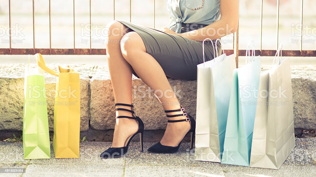 Shopping - Therapy For Womankind stock photo