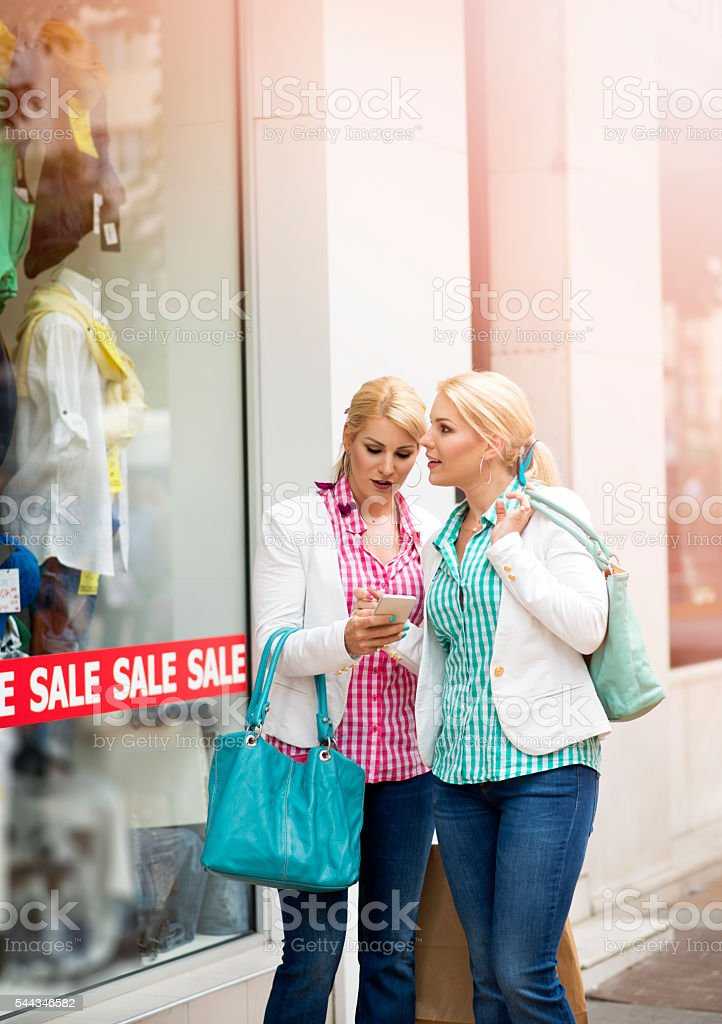 Shopping time stock photo