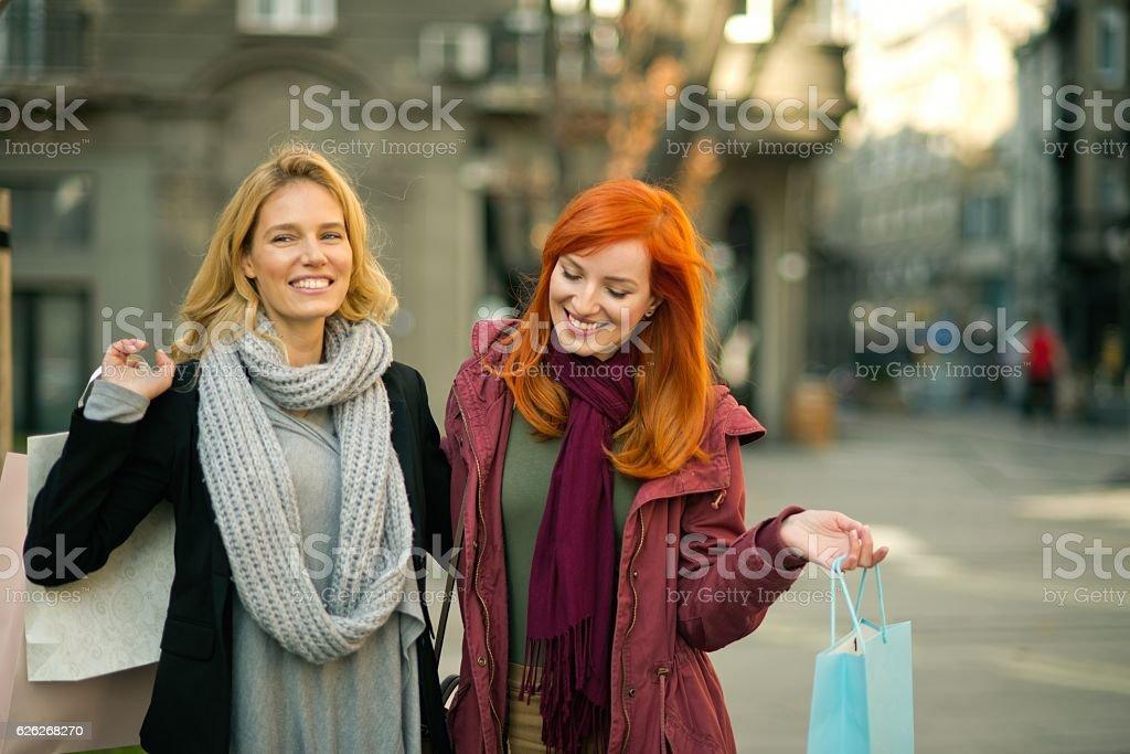 Shopping time. stock photo